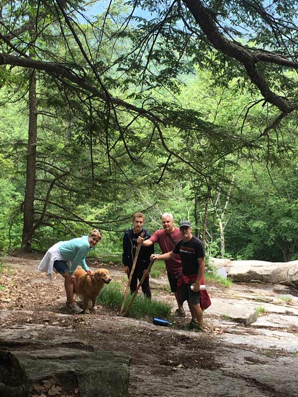 Family enjoys local hiking trail